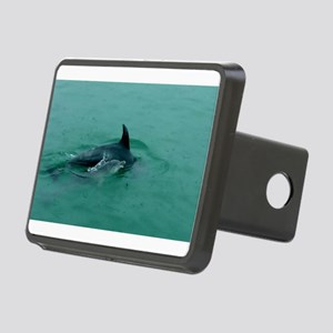 Natural Mother Dolphin and Baby Rectangular Hitch