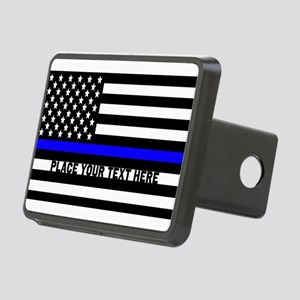 Thin Blue Line Flag Rectangular Hitch Cover