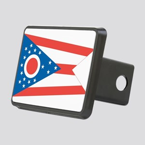 Ohio State Flag Rectangular Hitch Cover