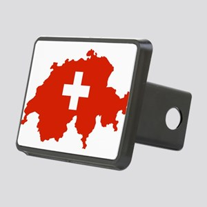 Switzerland Flag and Map Rectangular Hitch Cover