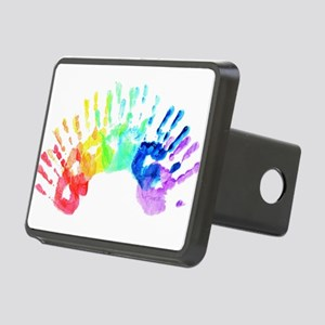 Rainbow Hands Rectangular Hitch Cover