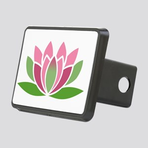 Lotus Blossom Rectangular Hitch Cover
