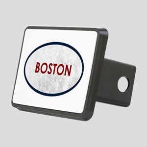 Boston Red Gray Stone Rectangular Hitch Cover