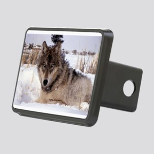 Wolf in Yellowstone Rectangular Hitch Cover