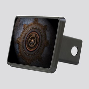 Steampunk Clock Time Metal Rectangular Hitch Cover