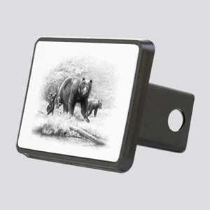 Black Bear Rectangular Hitch Cover