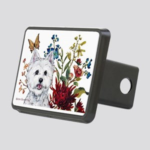 Westie Terrier in the Garden Rectangular Hitch Cov