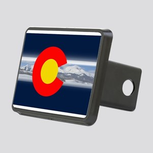 CO_Flag_Mountain Rectangular Hitch Cover