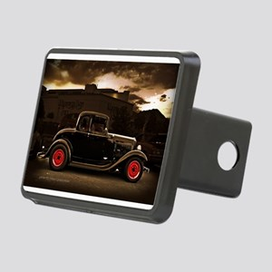 1932 black ford 5 window Hitch Cover