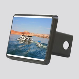 Houseboat making waves, La Rectangular Hitch Cover