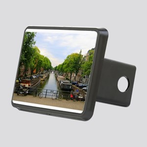 Canal, bridges, bikes, boa Rectangular Hitch Cover