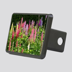 Lovely lupin flowers Rectangular Hitch Cover