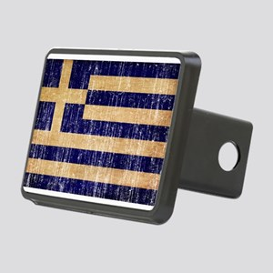 Greece Flag Rectangular Hitch Cover