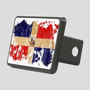 Dominican Republic Flag Rectangular Hitch Cover