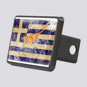 Greek Cyprus Flag Rectangular Hitch Cover