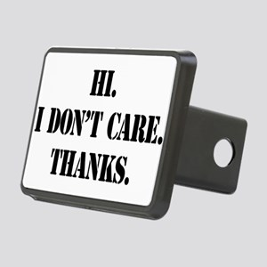idontcarestencilblk Rectangular Hitch Cover