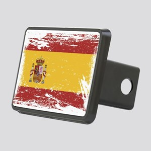 Grunge Spain Flag Hitch Cover