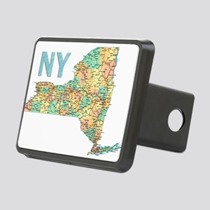 Map of New York State 6 Hitch Cover
