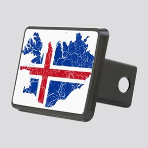 Iceland Flag And Map Rectangular Hitch Cover