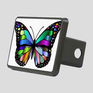 Prismatic Rainbow Winged B Rectangular Hitch Cover