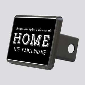 Home Is... Personalized Rectangular Hitch Cover