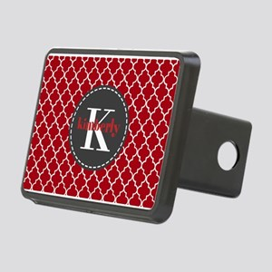 Red and Charcoal Gray Quat Rectangular Hitch Cover
