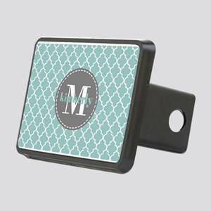 Charcoal and Mint Quatrefo Rectangular Hitch Cover
