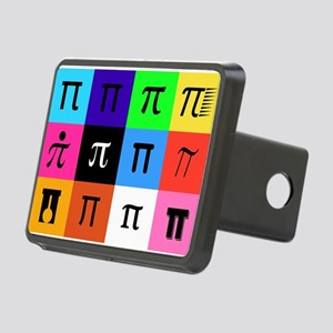 colorblock happy pi day Rectangular Hitch Cover