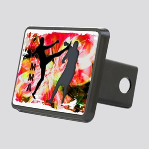 MMA Silhouettes in Red Exp Rectangular Hitch Cover