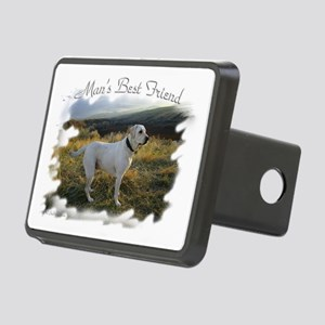 Mans best friend a lab Rectangular Hitch Cover