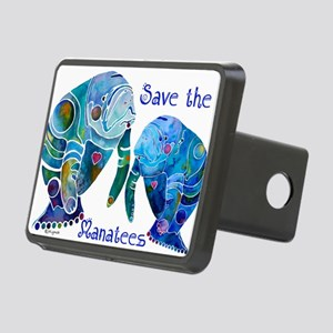 SaveManatees3 Rectangular Hitch Cover
