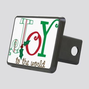 Joy To The World Rectangular Hitch Cover