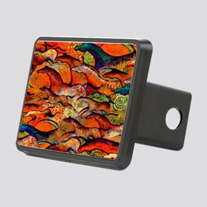 Petroglyph Wild Horses Rectangular Hitch Cover