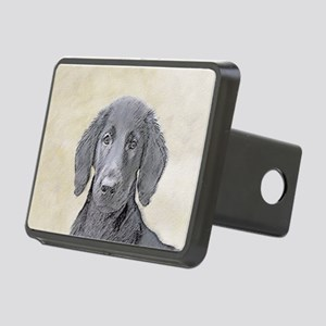 Flat-Coated Retriever Rectangular Hitch Cover