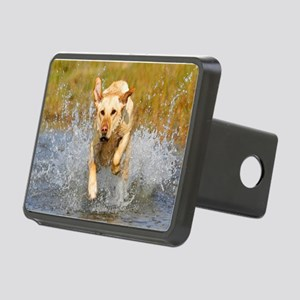 Yellow Lab Rectangular Hitch Cover