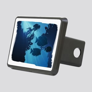 Underwater Blue World Fish Rectangular Hitch Cover