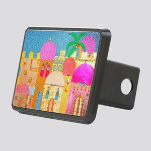 Jerusalem City of Gold Rectangular Hitch Cover