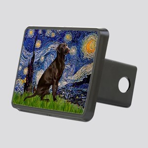 Starry Chocolate Lab Rectangular Hitch Cover