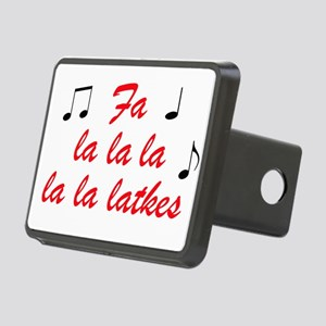 Fa la la la latkes Rectangular Hitch Cover