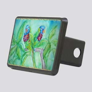 Lorikeets! Colorful bird art! Hitch Cover