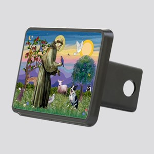 St Francis/Aussie Cat Dog Rectangular Hitch Cover