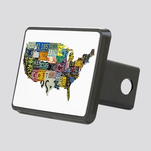 america license Rectangular Hitch Cover