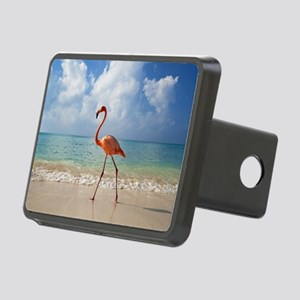 Flamingo On The Beach Hitch Cover