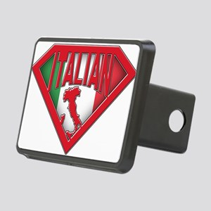 italian superman Rectangular Hitch Cover