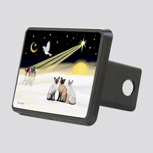 XmasDove-3 Siamese cats Rectangular Hitch Cover