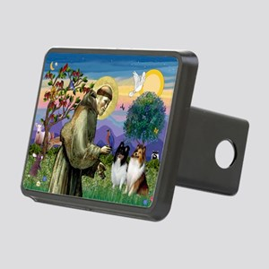 St Francis / Sheltie pair Rectangular Hitch Cover