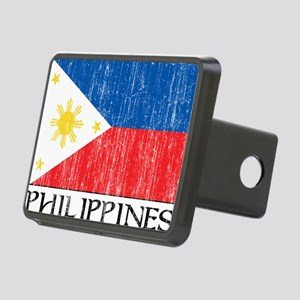Philippines Flag Rectangular Hitch Cover