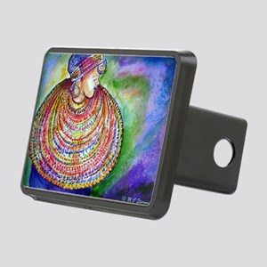 African, woman, art! Rectangular Hitch Cover
