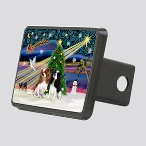 XmasMagic/2 Cavaliers Rectangular Hitch Cover