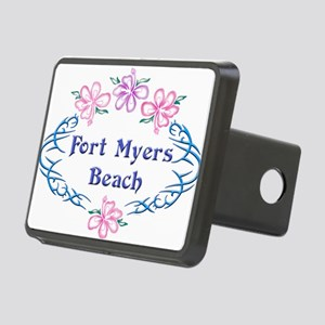 Fort Myers Beach: Flower O Rectangular Hitch Cover